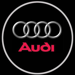 Audi door projector lights
