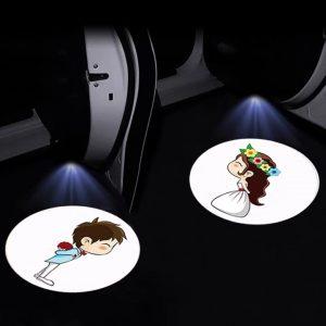 car door projector personalised