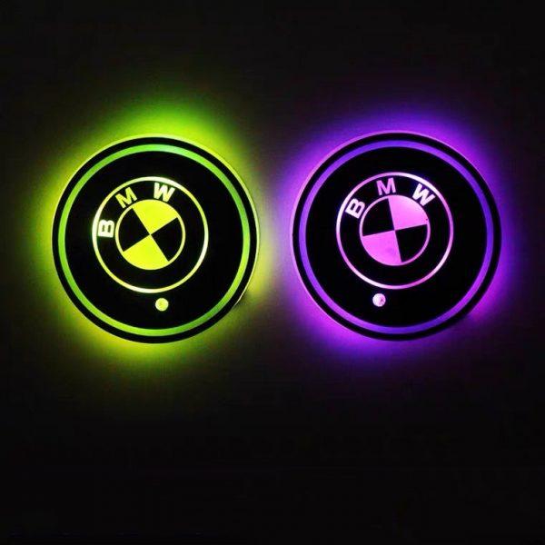 BMW cup holder lights