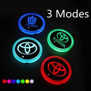 Led coasters for car