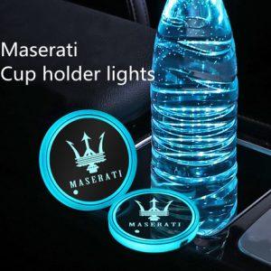 Maserati cup holder lights