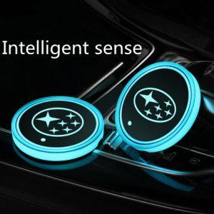 led car logo cup holder lights
