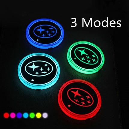 led car logo cup lights up holder
