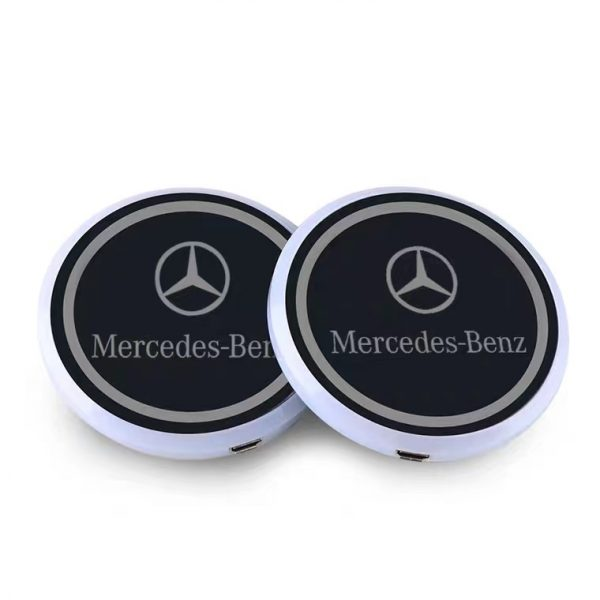 mercedes light up cup holders